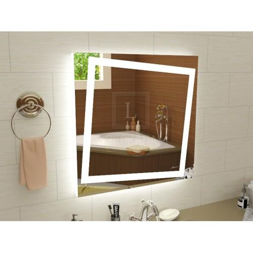 Квадратное LEd зеркало с подсветкой для ванной Торино 900x900 мм