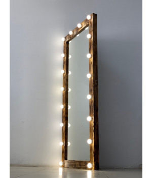 Напольное зеркало с  подсветкой лампочками 180х80 см