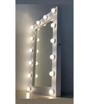 Гримерное зеркало в стиле Лофт с подсветкой