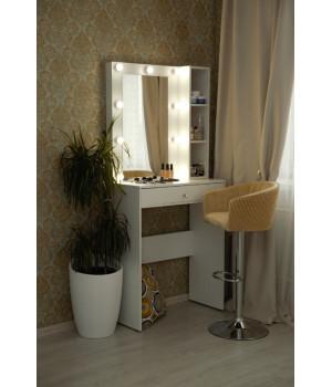 Гримерный столик 80х100 с зеркалом 80х60 и стеллажом