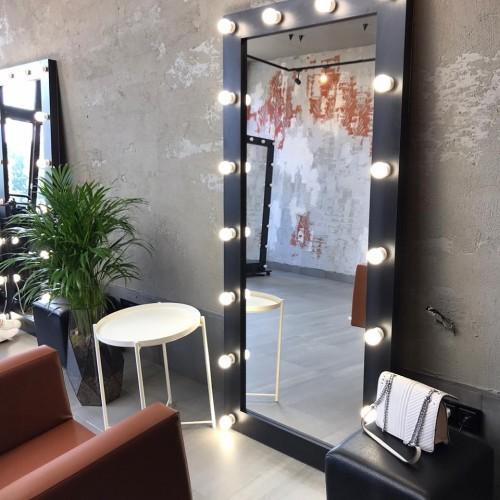 Гримерное зеркало с подсветкой венге 175х80 лдсп эконом