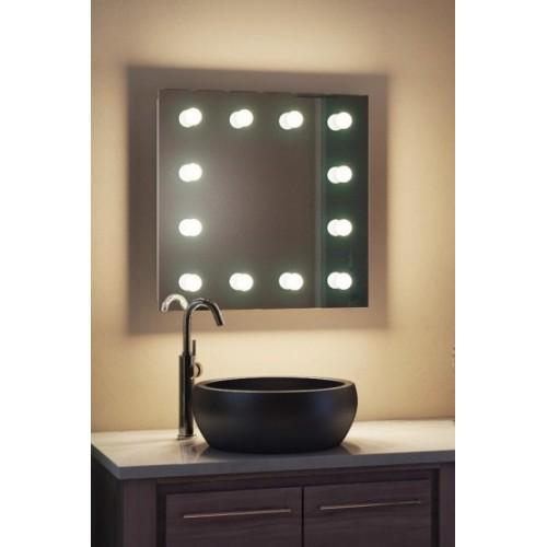 Зеркало для макияжа с подсветкой в ванную комнату Регал 50x50 см
