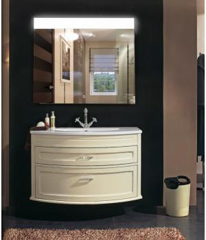 Зеркало в ванную с подсветкой Аврора размер 50 на 50 см