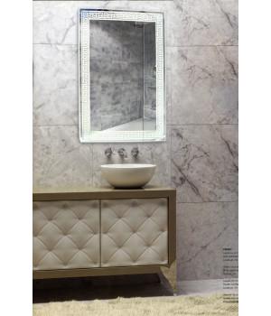 Зеркало в ванную комнату с подсветкой светодиодной лентой Изабелла