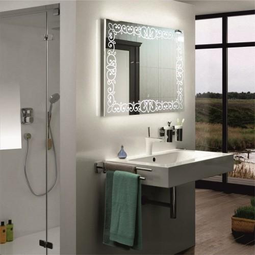 Зеркало в ванную комнату с LED подсветкой Каролина 90x90 см