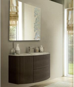 Зеркало в ванную комнату с подсветкой светодиодной лентой Майя