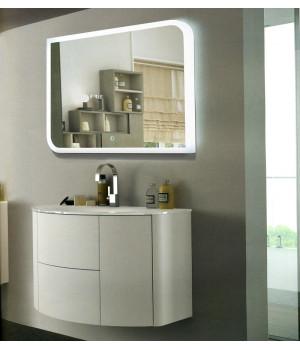 Зеркало в ванную комнату с контурной подсветкой светодиодной лентой Элла