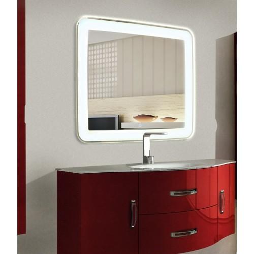 Зеркало для ванной с LED подсветкой Мила 90 на 90 см